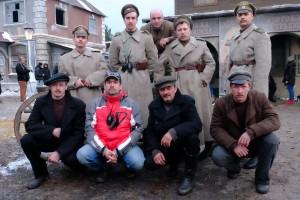 Каскадеры в сериале про Ленина.